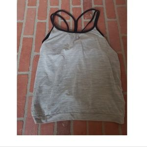 Athleta Light Grey Tank Top/ Built In Sports Bra